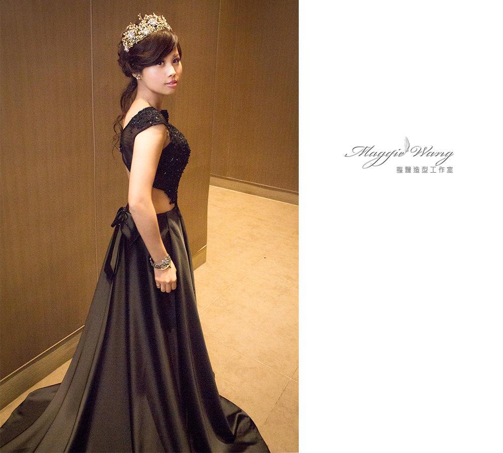 黑色蕾絲禮服