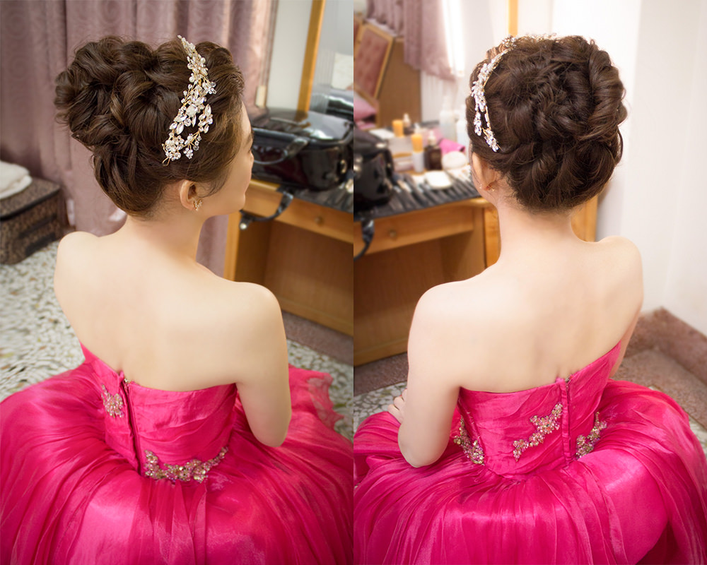 新娘盤髮造型