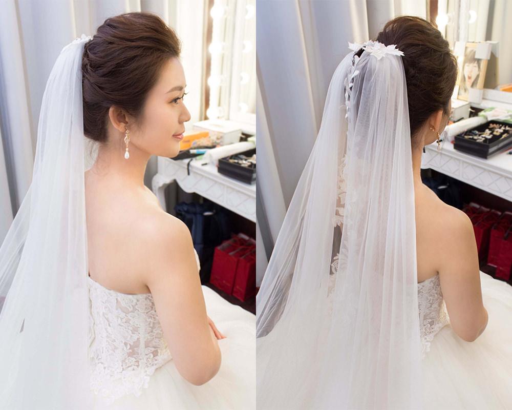 長頭紗造型