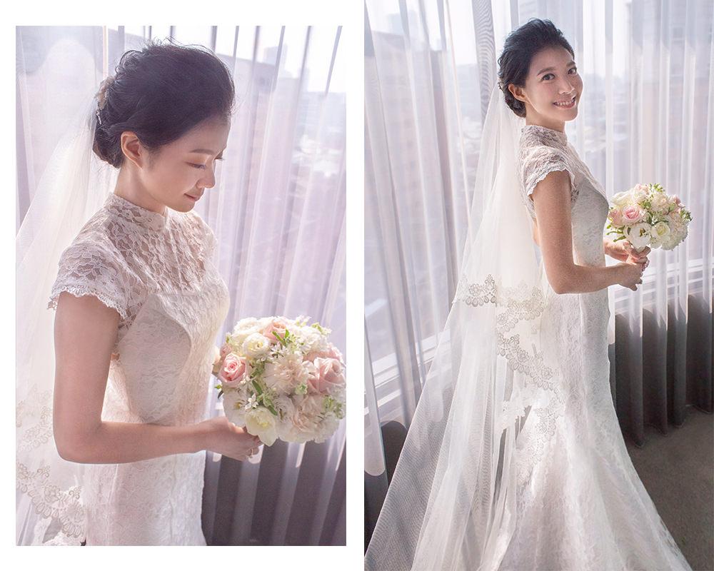 白紗證婚造型