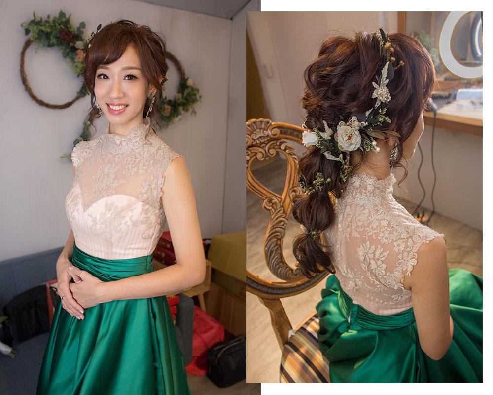 日系編髮新娘造型