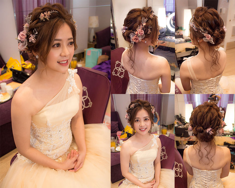 新娘乾燥花造型