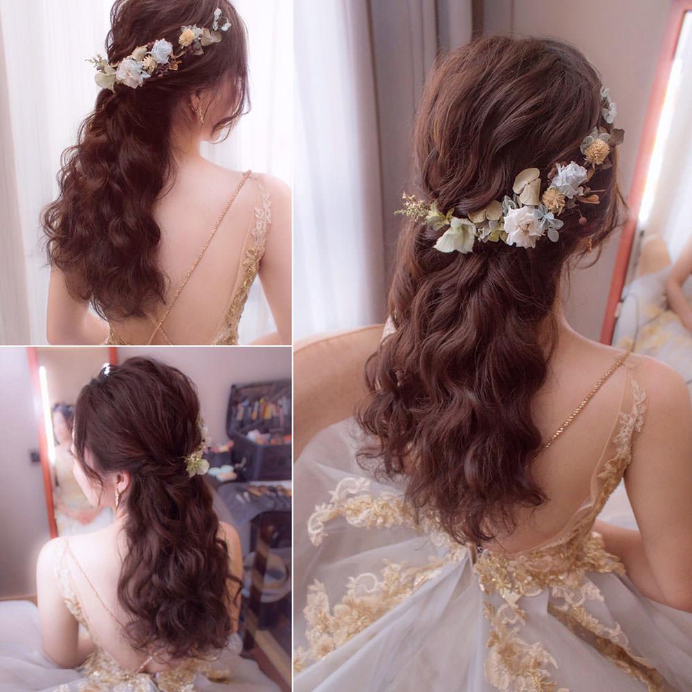 浪漫捲髮造型