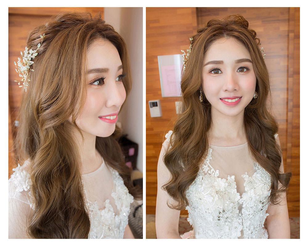 白紗新娘造型