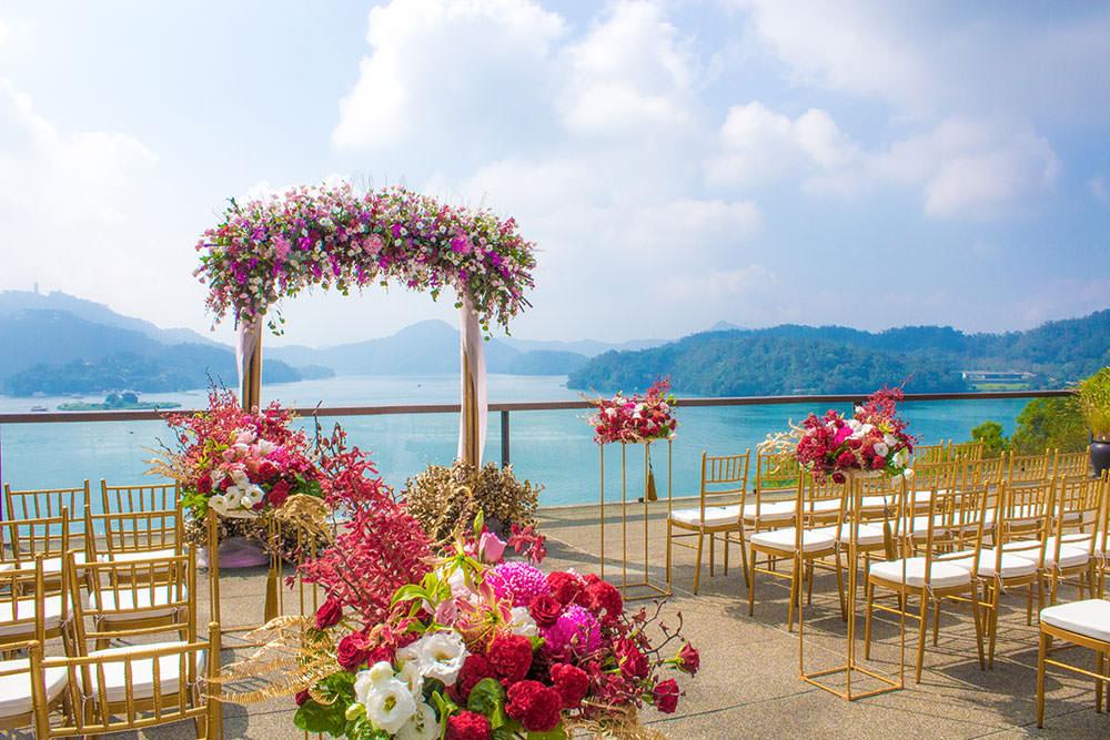 日月潭婚禮