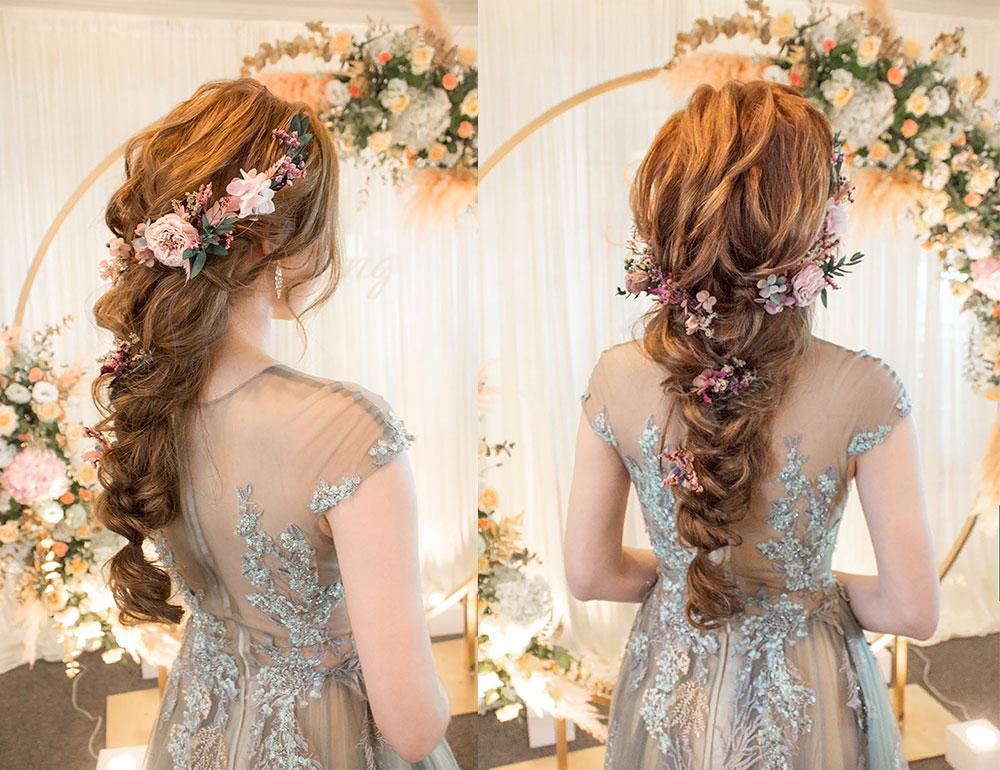 浪漫編髮造型