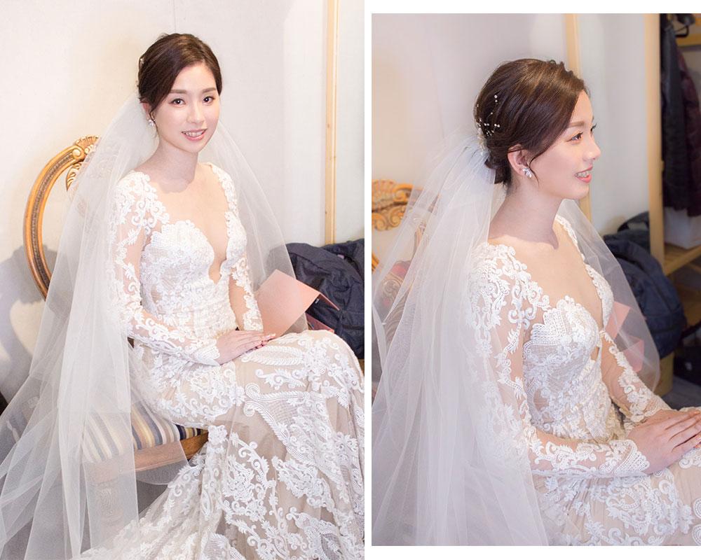 美式婚禮新娘造型
